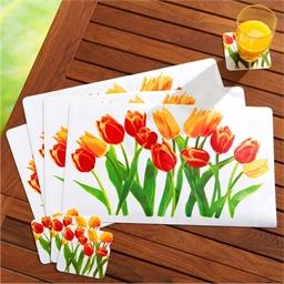 Tischsets + Glasuntersetzer Tulpen