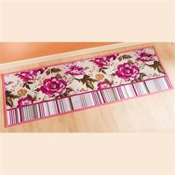 Tapis roses et lignes 48 x 69 cm