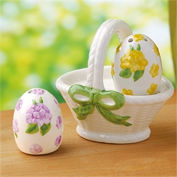Salt and pepper egg basket