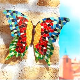 Objet déco papillon mosaïque