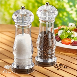 2 acrylic salt and pepper mills