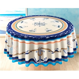 Nappe mer et coquillages Ronde
