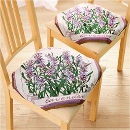 2 ou 4 galettes de chaise lavande