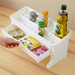 Green extra shelf with drawer : Green or White