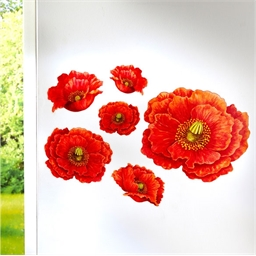 Stickers muraux coquelicots