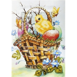 Spring card to embroider