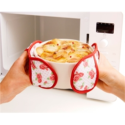 Rose pattern microwave oven gloves