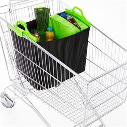Isolerende winkelwagentas zwart/groen
