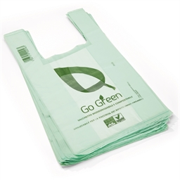 50 x 6 litre compostable bags with handles