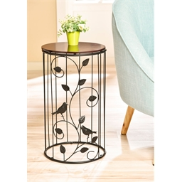 Circular bird motif table