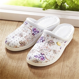 Grape patterned clogs