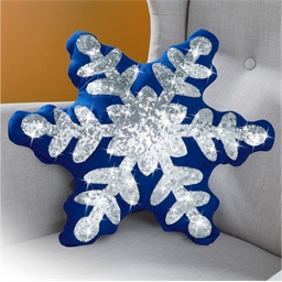 Schneeflocken-Kissen