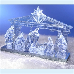 Blue illuminated crib