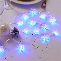 Lichterkette Raueis-Kristalle