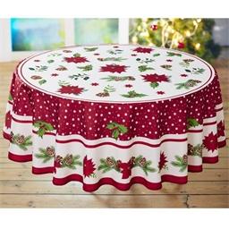 Tischdecke Stechpalmen und Weihnachtsstern