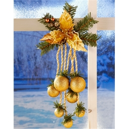 Golden hanging decoration