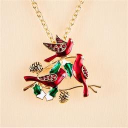 Collier pendentif - broche oiseaux
