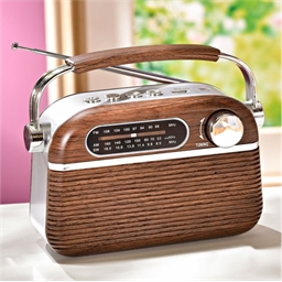 Brown vintage radio