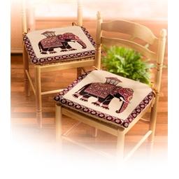 Lot de 2 galettes de chaise éléphant