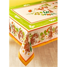 "Nappe ""ronde des lapins"" : rectangle ou ronde"