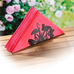 Porte serviettes de table flamants roses