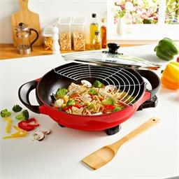 Rode elektrische wok