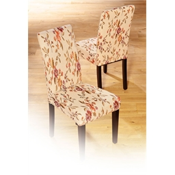 Floral chair cover or set of 2