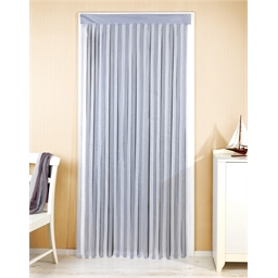 Door curtain : Grey/white or Blue/white