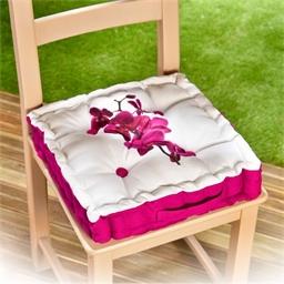 Coussin réhausseur de chaise orchidée