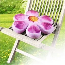Coussin réhausseur de chaise fleur violet