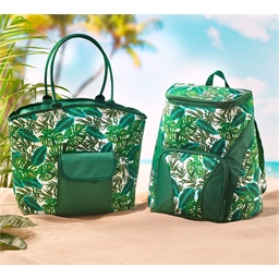 Tropical leaf Shopping bag / Tropical leaf backpack