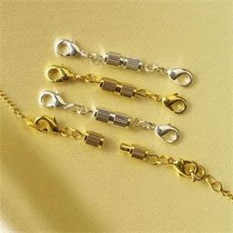 4 fermoirs à vis pour bijoux