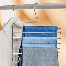 Hanger for 6 trousers or Set of 2 hangers for 6 trousers