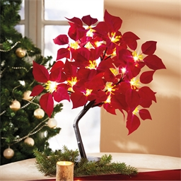 Arbre poinsettias LED