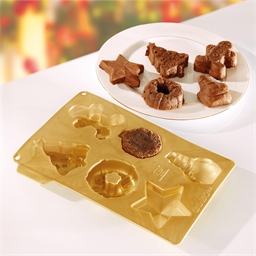 6 Christmas shape mould