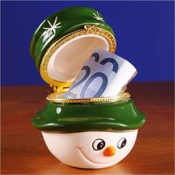 Boîte cadeau Bonhomme de neige ou Lot 2 Boules Cadeaux Houx + Bonhomme
