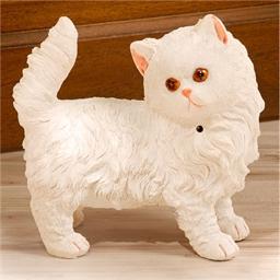 Chat blanc détecteur de mouvements