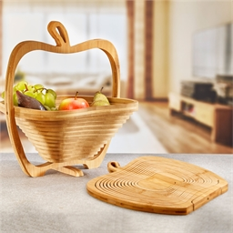 Bamboo apple basket