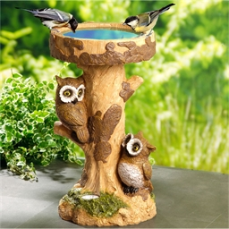 Owl bird bath
