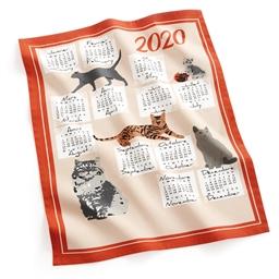 Geschirrtuch Kalender 2020