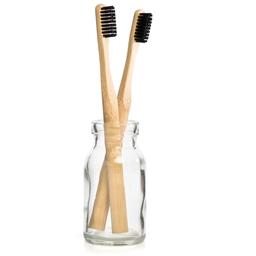 Set van twee bamboe tandenborstels