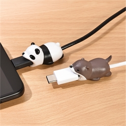 2 protège-câble téléphone Panda/Castor
