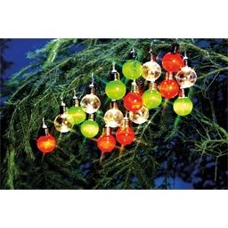 20 kerstballen op zonne-energie