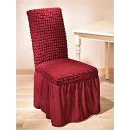 4 long ruffled chair covers Beige or Burgundy