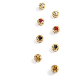 Set mit 4 Paar Ohrringen mit Magnetverschluss