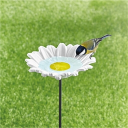 Daisy bird bath