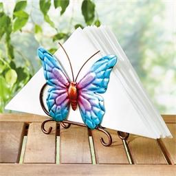 Blue butterfly serviette holder