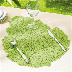 4 sets de table feuilles