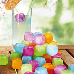 Dertig bonte ijsblokjes