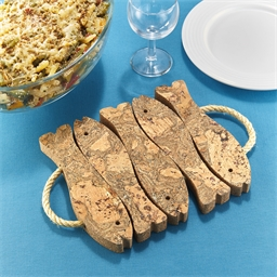 Fish design cork table mat